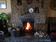 Picture of the open fire